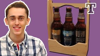 Woodworking Gift Project: Slightly Rustic Beer Set (beer Tote)