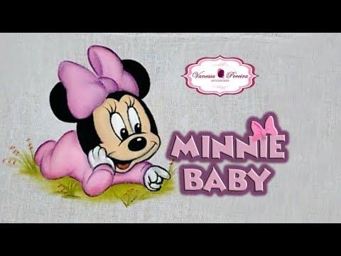 Como Pintar Minnie Bebe Pintura Em Fralda Vanessa Pereira Youtube