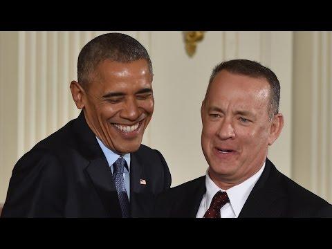 Tom Hanks talks vacation with Obama
