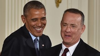 Tom Hanks talks vacation with Obama