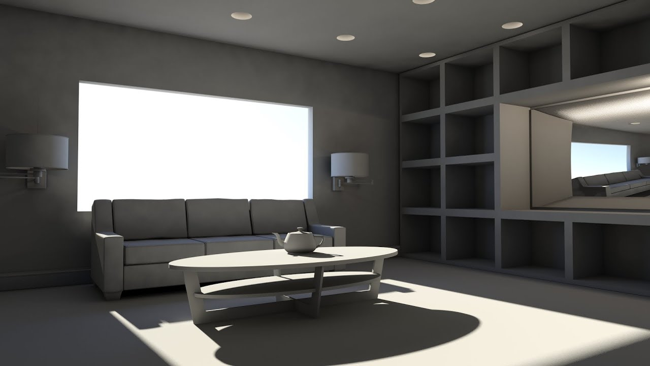 Living Room Tv Setup Pictures For Walls Dmii Mental Ray Daylight And Photometric Lights - Youtube