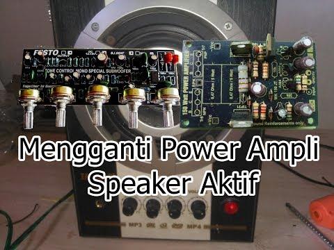 Mengganti Power Amplifier Speaker Aktif yang memakai IC. TDA2030 ke OCL150 Watt