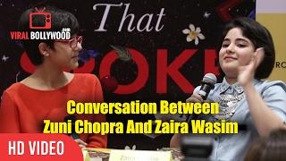 Video Conversation Between Young Talents Zuni Chopra And Dangal Girl Zaira Wasim   Viralbollywood download MP3, 3GP, MP4, WEBM, AVI, FLV November 2017
