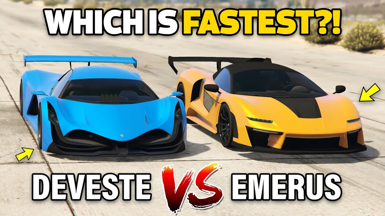 GTA 5 ONLINE - EMERUS VS DEVESTE EIGHT (WHICH IS FASTEST?)