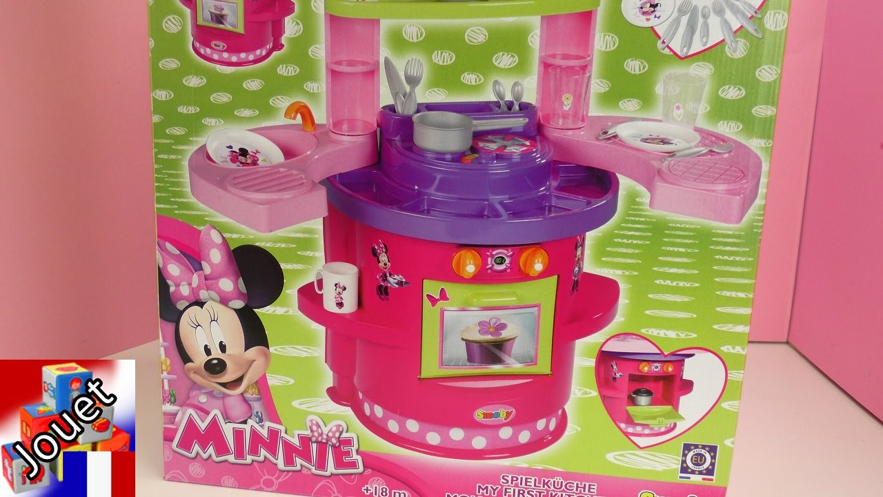 cuisine minnie mouse cuisine et four pour les enfants unboxing youtube. Black Bedroom Furniture Sets. Home Design Ideas