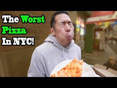 Eating At the WORST REVIEWED PIZZA Restaurant in My City (New York City)  1 STAR REVIEW
