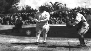 New York Yankees in Florida for Spring Training, including Babe Ruth, Joe McCarth...HD Stock Footage