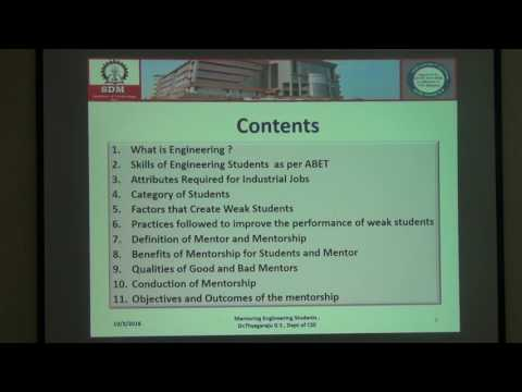 Mentoring Engineering Students  Part 1