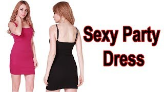 Women Sexy Backless Basic Dresses Sleeveless Review
