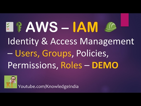 AWS Security  IAM Part1  Users, Groups, Policy  Identity & Access Management