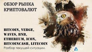 Bitcoin, Verge, Waves, BNB, Ethereum, ICON, BitcoinCash, Litecoin | Прогноз Криптовалют