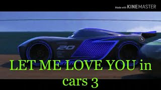 Cars 3 first race with let me love you song.