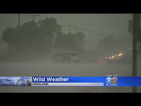 Inland Empire Experiencing Wild Weather