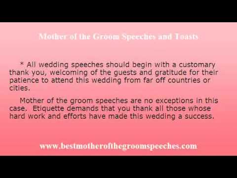 Wedding Speeches For Mother Of The Groom - Wedding Speech