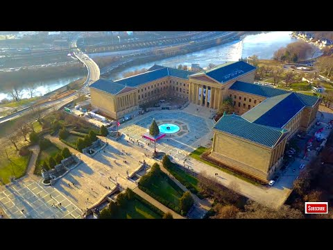Philadelphia Museum of Art 4K UHD Aerial Video
