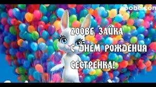 Zoobe Зайка, С Днем Рождения сестренка!
