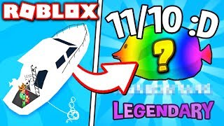 I GOT THE *RAREST* LEGENDARY FISH in FISHING EMPIRE SIMULATOR!! (Roblox)