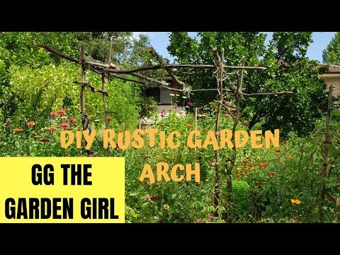 EASY DIY RUSTIC GARDEN ARCH FOR LESS THAT $10