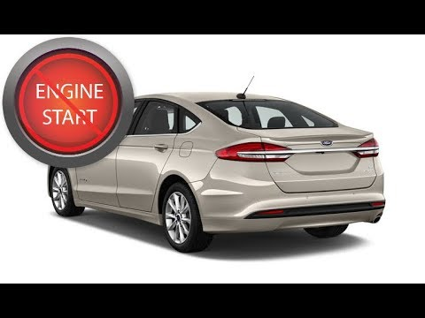Fusion Hybrid 2017 And Up With A Dead Key Fob Get In And Get