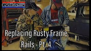 Episode 23  70 Challenger  Rust to Revival  RUSTY rear frame rail  BUILDING the front section