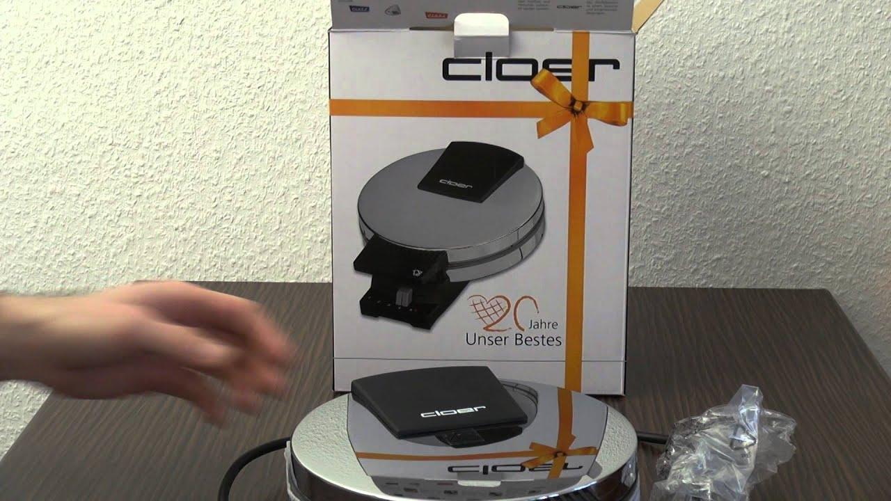 Waffeleisen test CLOER / Waffle iron test CLOER - YouTube | {Waffeleisen 24}