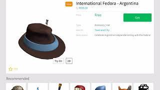 HOW TO GET INTERNATIONAL FEDORA-ARGENTINA (ROBLOX)