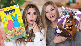 Trying More Weird Cereal w/ iJustine!