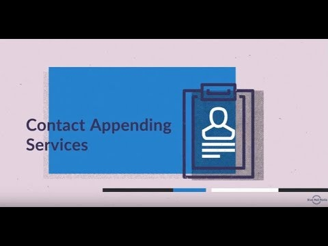 Contact Appending - B2B Contact Appending Services