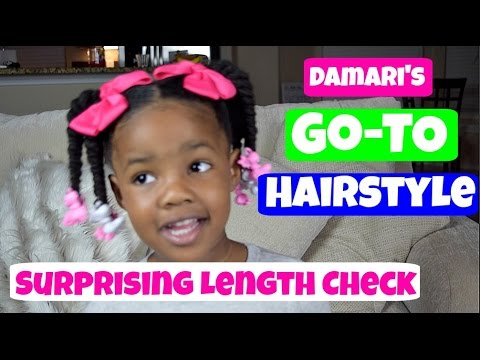 Damari's Go-To Hairstyle || Everyday Natural Hairstyle w/ Length Check thumbnail