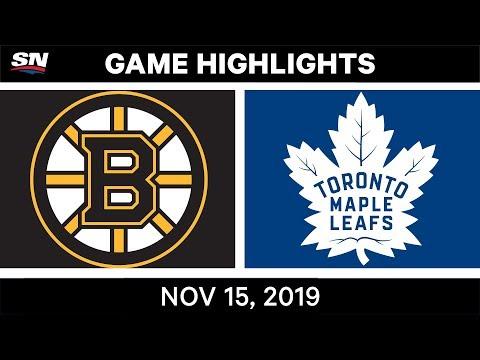 NHL Highlights | Bruins vs. Maple Leafs – Nov. 15, 2019