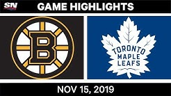 NHL Highlights | Bruins vs. Maple Leafs – Nov. 15, 2019