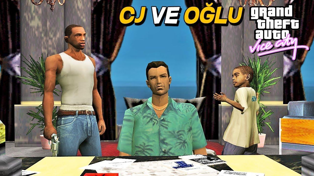 CJ VE OĞLU GTA VICE CITY 'DE TOMMY İLE BULUŞTU ! GTA SAN ANDREAS MOD