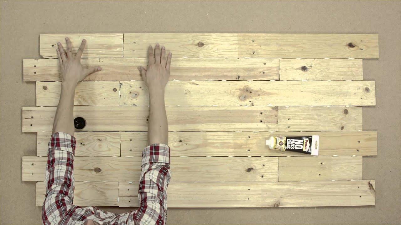 Bricofans crear un cabezal con pal s youtube - Cabeceros de cama con fotos ...