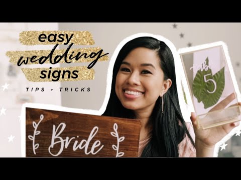 4-easy-diy-wedding-signs-for-beginners-|-calligraphy-tips-and-hacks,-budget-decoration-ideas