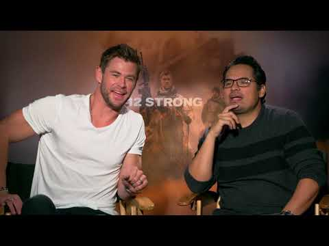 12 Strong: Chris Hemsworth & Michael Pena Official Movie Interview