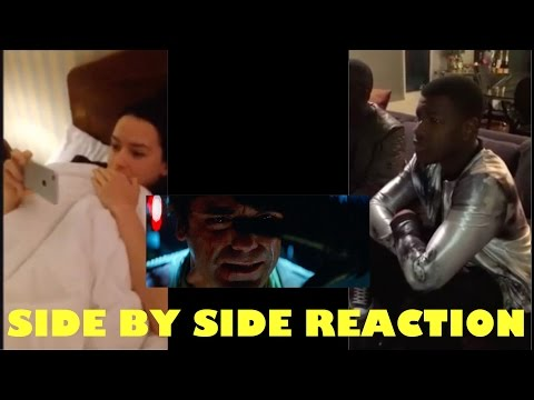 Download Youtube: Daisy Ridley and John Boyega Reacts Side by Side to Official Trailer