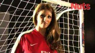 Lucy Pinder Nuts Magazine football shoot