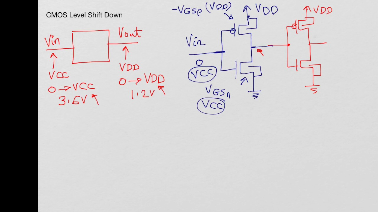 small resolution of cmos level shift down circuit