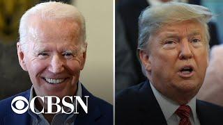 Trump trails Biden in latest CBS News Battleground Tracker poll