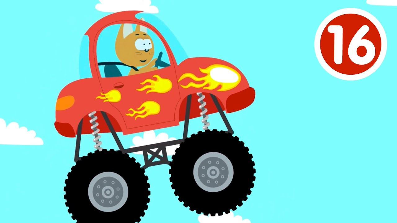 МОНСТР ТРАК - Котёнок и волшебный гараж - Новая серия мультик про машинки