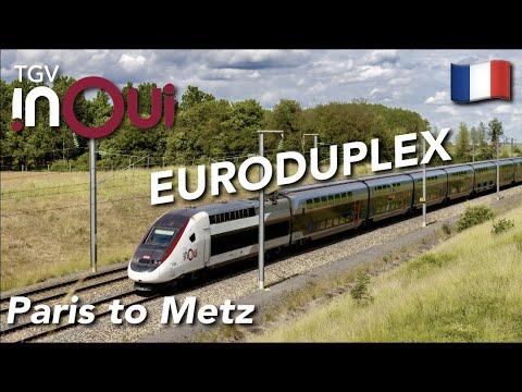 TRIP REPORT | TGV Inoui (1ST CLASS) | TGV Euroduplex | Paris Est🇫🇷 - Metz Ville🇫🇷 |
