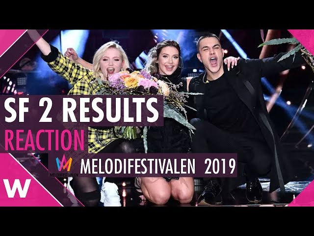 SF 2 Results Reaction @ Melodifestivalen 2019 | wiwibloggs