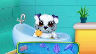 Fun Pet Animal Care - Baby Play Puppy Toilet, Bath time, Playtime For Kids Game | Fun Animated Video