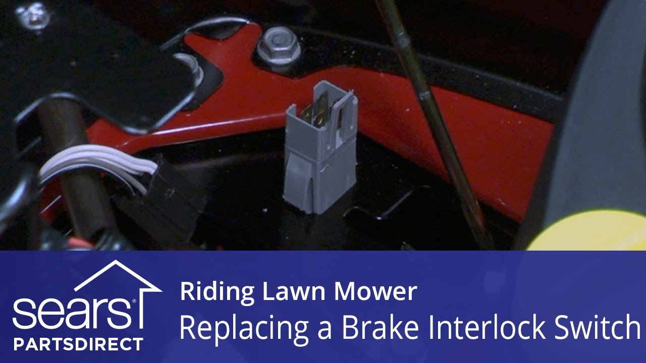 Replacing a Brake Interlock Switch on a Riding Lawn Mower  YouTube