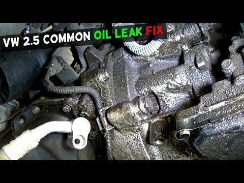 VW JETTA GOLF BEETLE RABBIT 25 OIL LEAK FIX COMMON OIL LEAK - YouTube