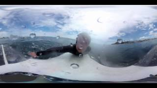 WOOW!!! 360 градусов! Обучение серфингу, на воде панорамное сферическое видео