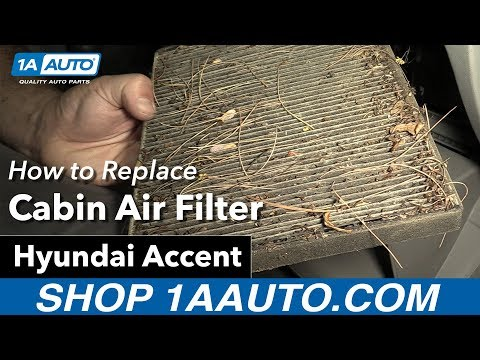 how to Replace Cabin Filter 05-10 Hyundai Accent