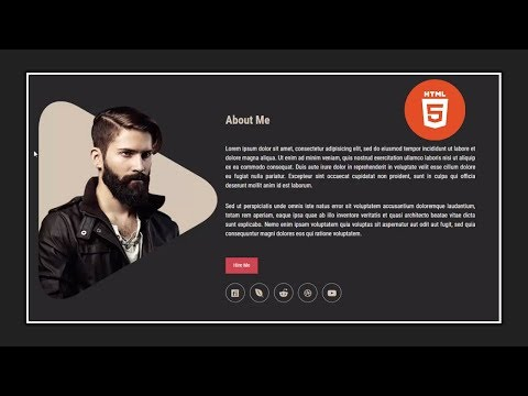 Build An HTML 5 Website With A Responsive Layout - About Me Section