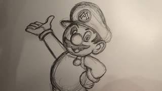 How To Draw Suṗer Mario Bros' MARIO By Fernando Ruiz!