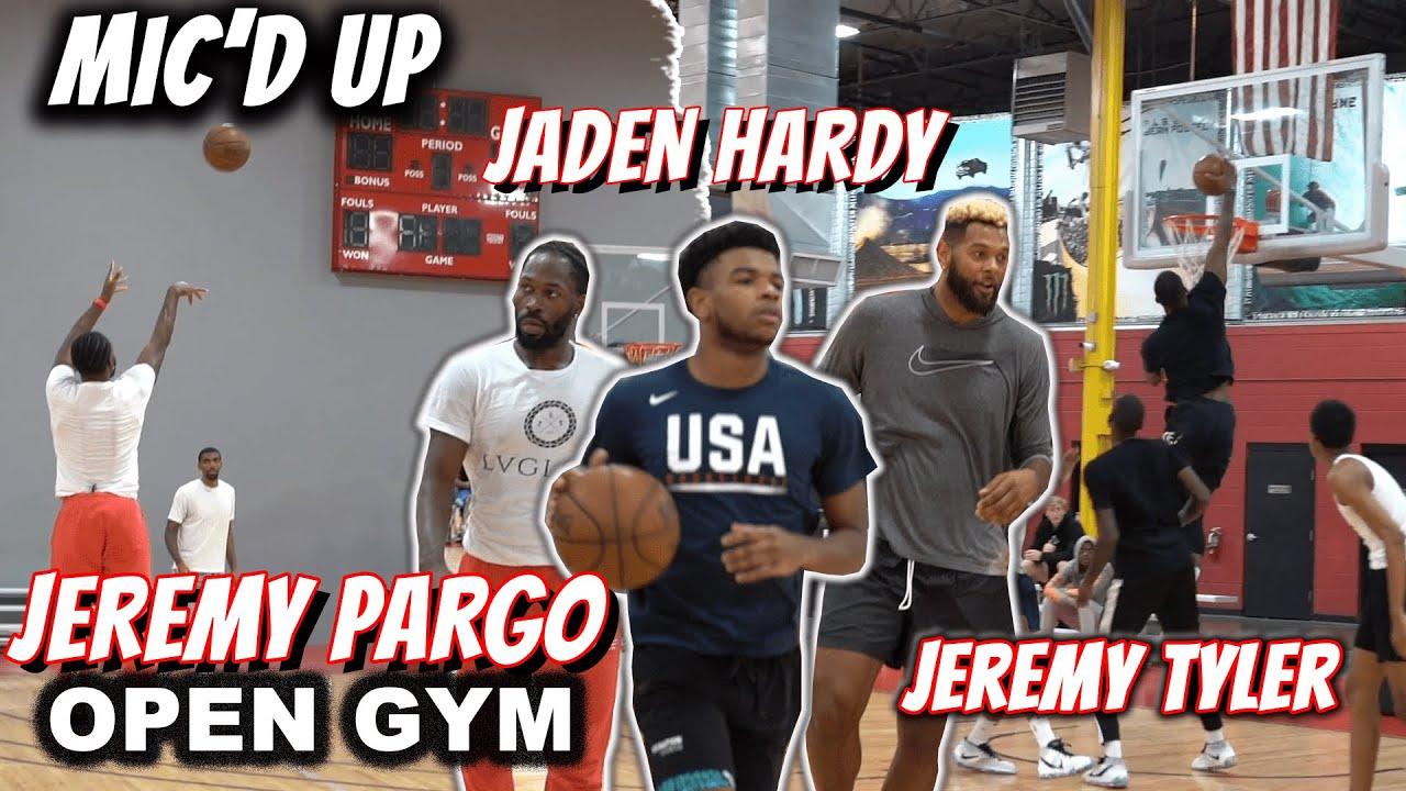 Jaden Hardy, Jeremy Pargo, and Jeremy Tyler TRASH talk in Mic'd UP Open Gym!!